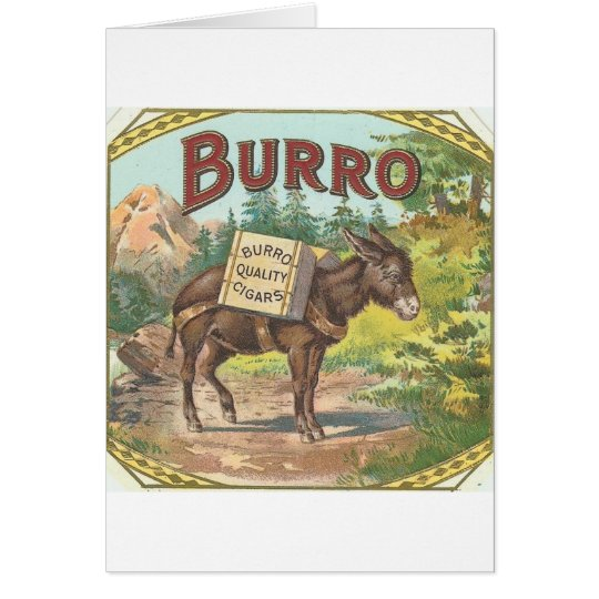 Vintage Burro Card