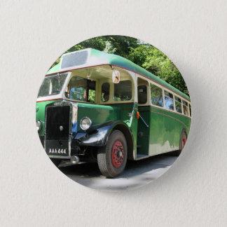 Vintage bus, 1940 transport , nostalgia image 2 inch round button