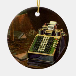 Vintage Business Accountant, Accounting Machine Ceramic Ornament