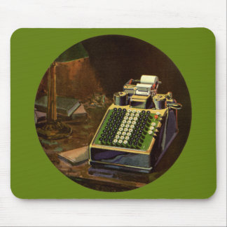 Vintage Business Accountant, Accounting Machine Mouse Pad