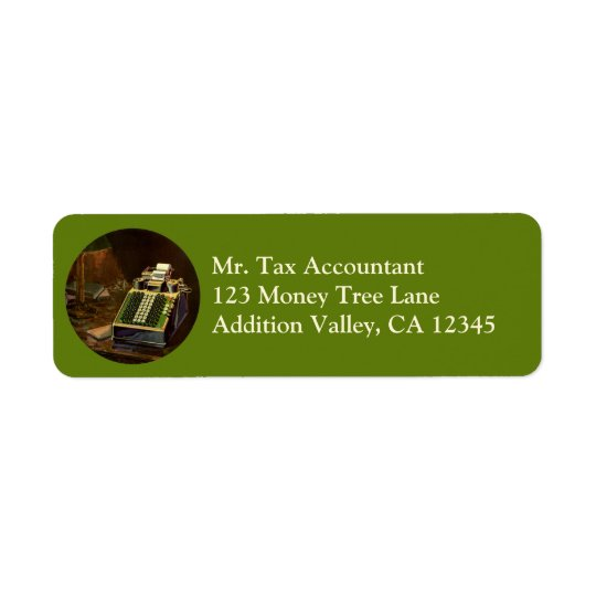 Vintage Business Accountant, Accounting Machine Return Address Label