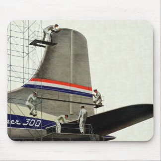 Vintage Business, Airlines Airplane Maintenance Mousepad