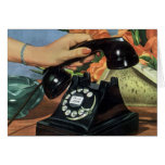 Vintage Business, Antique Rotary Dial Telephone Greeting Card
