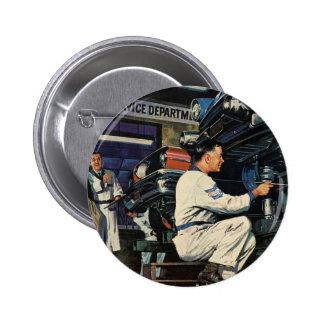 Vintage Business Auto Mechanic, Car Repair Service 2 Inch Round Button