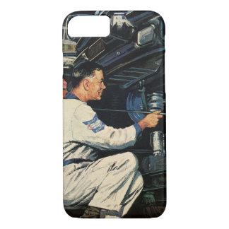 Vintage Business Auto Mechanic, Car Repair Service iPhone 7 Case