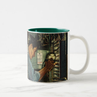 Vintage Business Electrician Circuit Breaker Panel Two-Tone Coffee Mug