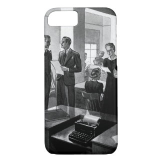 Vintage Business, Executive Businessmen Office iPhone 7 Case