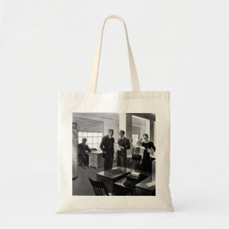 Vintage Business, Executives in an Office Budget Tote Bag