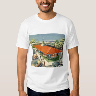 Vintage Business, Family Restaurant with Customers Tshirts