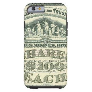 Vintage Business Finance Capital Stock Certificate Tough iPhone 6 Case