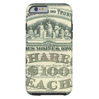 Vintage Business Finance Capital Stock Certificate Tough iPhone 6 Case