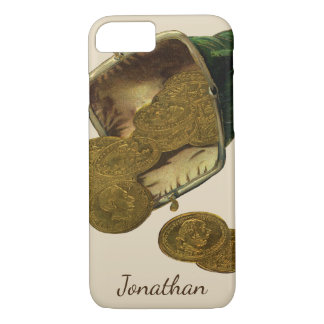Vintage Business Finance, Gold Coin Money in Purse iPhone 8/7 Case