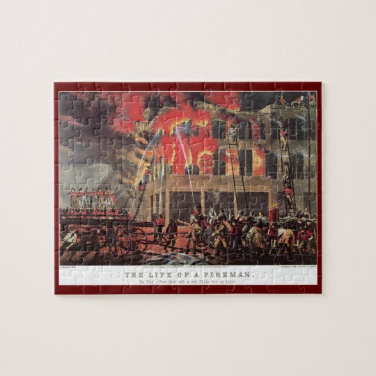 Vintage Business Firemen, Fire Fighters Fireman Jigsaw Puzzle