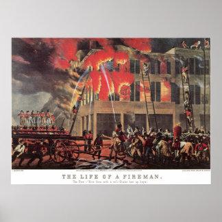 Vintage Business Firemen, Fire Fighters Fireman Poster