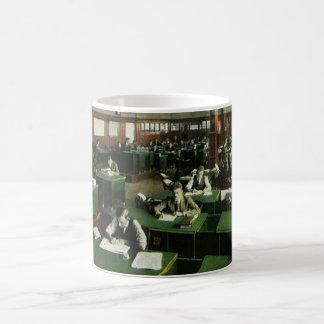 Vintage Business, Journalists in Newspaper Office Coffee Mug