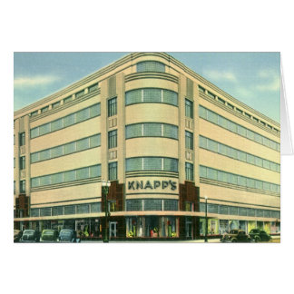 Vintage Business, Knapp's Department Store Greeting Card