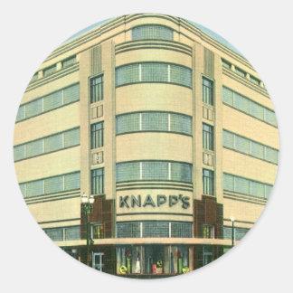 Vintage Business, Knapp's Department Store Classic Round Sticker