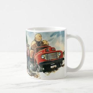 Vintage Business, Logging Truck with Lumberjacks Coffee Mug