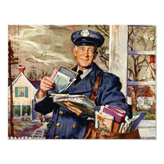 Vintage Business, Mailman Delivering Mail Letters Card