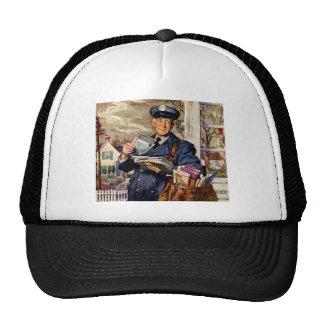 Vintage Business, Mailman Delivering Mail Letters Trucker Hat