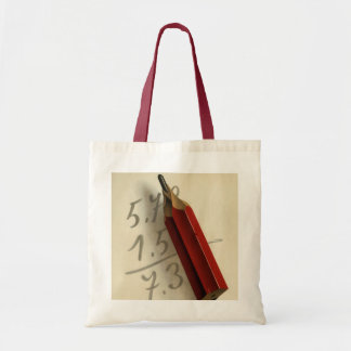 Vintage Business, Math Equation with Red Pencil Tote Bag
