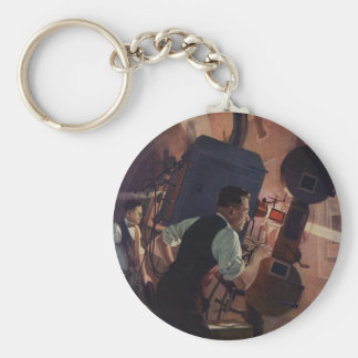 Vintage Business, Movie Theater Projectionist Keychain