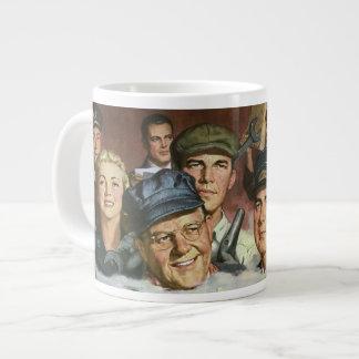 Vintage Business Occupations, Patriotic Patriotism Extra Large Mug