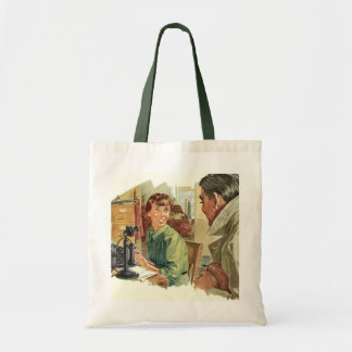 Vintage Business Office, Secretary and CEO Boss Budget Tote Bag