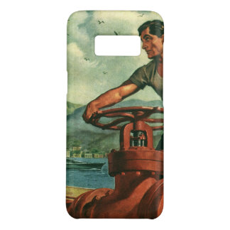 Vintage Business, Oil Tanker Ship with Dock Worker Case-Mate Samsung Galaxy S8 Case