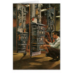 Vintage Business Radio Technician Fixing Equipment Card
