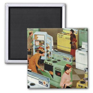 Vintage Business Retail, Appliance Showroom Store Square Magnet