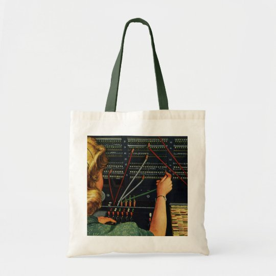 Vintage Business, Telephone Switchboard Operator Tote Bag