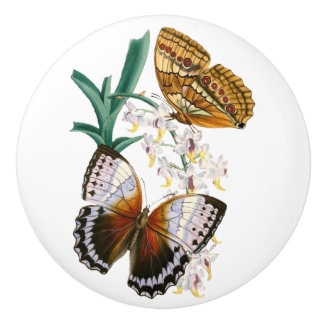 'Vintage Butterflies' Ceramic Knob