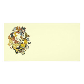 Vintage Butterflies Decoupage Photo Greeting Card