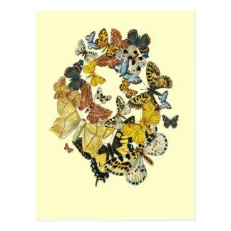 Vintage Butterflies Decoupage Postcard