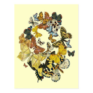 Vintage Butterflies Decoupage Post Cards