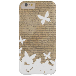 Vintage Butterflies Old Scripts iPhone 6 Plus Case