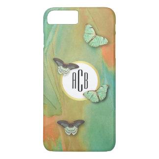 Vintage Butterflies Pattern with Monogram iPhone 8 Plus/7 Plus Case