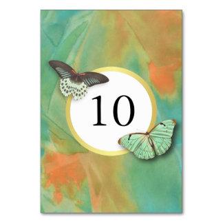 Vintage Butterflies Southwest Colors Table Number Table Cards