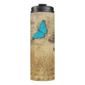 Vintage Butterflies Thermal Tumbler