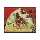 Vintage Butterfly Advertising Label Canvas Print