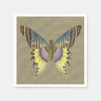 Vintage Butterfly Birthday Party Decorative Paper Napkins