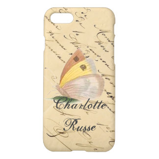 Vintage Butterfly Calligraphy iPhone 7 Case
