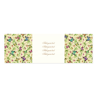 vintage,butterfly,floral,cute,girly,pattern,water pack of skinny business cards