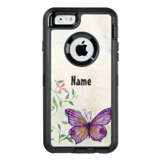 Vintage Butterfly Floral OtterBox Defender iPhone Case