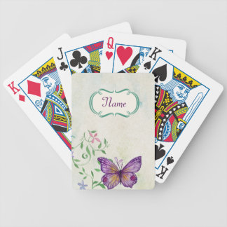 Vintage Butterfly Floral Poker Deck
