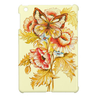 Vintage Butterfly & Flowers Case For The iPad Mini