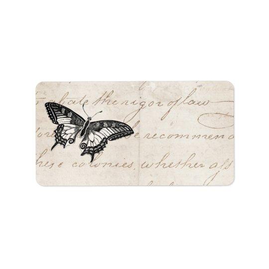 Vintage Butterfly Illustration 1800's Butterflies Label