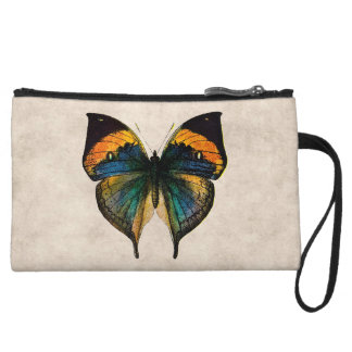 Vintage Butterfly Illustration 1800's Butterflies Wristlet