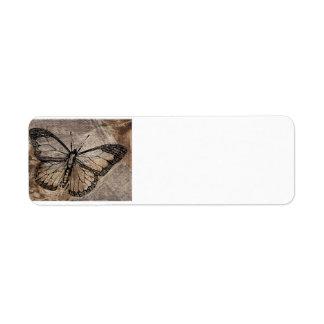 Vintage Butterfly Return Address Labels